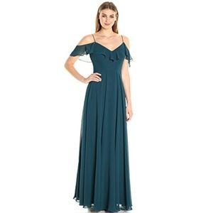 Jenny Yoo Mila bridesmaid dress in Caspian Sea